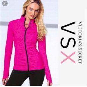 Victoria Secret the knockout hot pink zip jacket